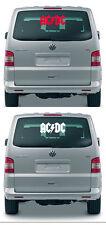 AC DC/ACDC/AC/DC-Adesivi, Sticker - 50 cm, colore rosso o bianco