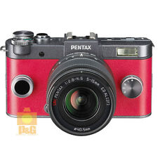 NEW BOXED PENTAX Q-S1 QS1 CAMERA GUNMETAL x CARMINE RED + 02 5-15mm  LENS KIT
