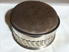 Antique Victorian Solid Silver Fluted Pin Cushion Trinket Box Stokes & Ireland