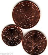 1,2,5 cts cent centimes euro Allemagne /  Deutschland 2004 G , qualité UNC !!