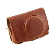 New Leather Camera Case Cover Bag Grip with Strap for canon PowerShot SX700 HS