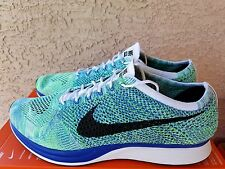 Nike Flyknit Racer White Black Game Royal Blue Green 526628 104 Size 14