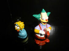 The Simpsons Krusty the clown and Lisa Simpson  2 PVC Figurines