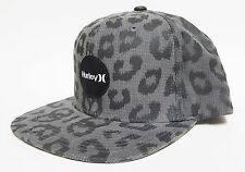 HURLEY KRUSH SNAPBACK Hat Grey Black OSFA ($30) NEW Skate Surf Ski CAP LEOPARD