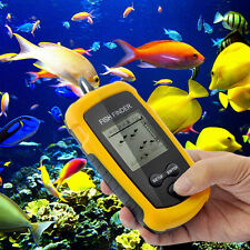 100M Portable Sonar Sensor LCD Fish Finder Alarm Fishfinder Transducer F7