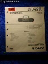 Sony Service Manual CFD 222L Cassette Recorder (#3438)