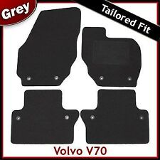 Volvo V70 Mk3 Manual 2007 onwards Tailored Fitted Carpet Car Mats GREY
