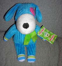 MONKEEZ  plush SONNY the DOG    RIBBED BLUE      SITS  7 INCHES       NWT