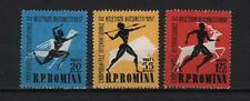ROMANIA 1957 INTERNATIONAL ATHLETISMO CHAMPIONSHIP BUCAREST RUNNING S# 1180 1182