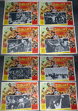 GOLIATH BARBARIANS set of 8 STEVE REEVES/CHELO ALONSO original lobby card set