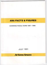 ANA FACTS & FIGURES 1981-1990 BROCHURE ALL NIPPON AIRWAYS JAPAN