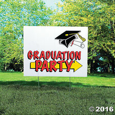 "Plastic ""Graduation Party"" Yard Sign"