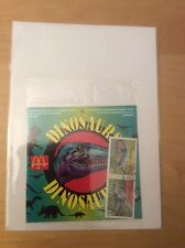 1993 DINOSAURS STAMPS FROM MCDONALDS, WITH BOOKLET, FACTORY SEALED