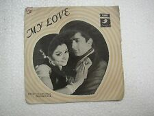 MY LOVE DAAN SINGH TAE 1531 1969 RARE BOLLYWOOD india OST EP 45 rpm RECORD ex