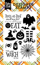 Echo Park Halloween Collection Clear Acrylic Stamps The Witch is In