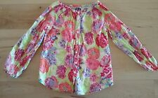 Baby Gap Toddler Girl Long Sleeve Shirt Top Floral Multicolor 5T