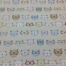 FRYETT`S NEW- Cool Cats - 100% Cotton Curtain/ Crafts/ Upholstery fabric .