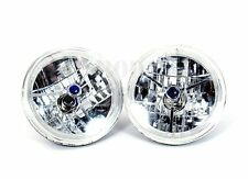 """7"""" Convertible Headlight with LED Ring Tri-Bar And Blue Dot"""