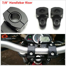 "2X Black Fat Bar Mount Clamps Riser for Dirt Bike Motocycle 7/8"" 22mm Handle Bar"