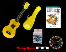 UKE PACK U30Y YELLOW SOPRANO UKULELE +GIG BAG +PLAY UKULELE TODAY DVD +TUNER