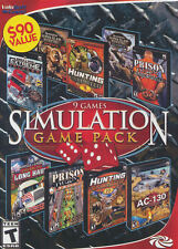 9 Games Simulation Game Pack PC Games Windows 10 8 7 XP Computer Games sim pack