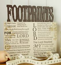 Footprints in the Sand Plaque - Decorative Wooden Plaque - Footprints
