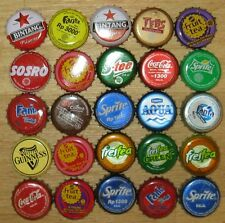 25 Kronkorken BOTTLE CAPS Indonesia TAPPI Tee FANTA Guinness Aqua COCA-COLA No.3