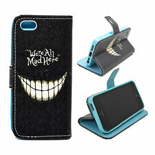 Standing Wallet Flip Leather Case Soft Rubber Phone Cover For Apple iPhone 5 5S