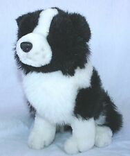 "Plush Border Collie Puppy Dog Stuffed Animal 10"" Tall Toy Doll"