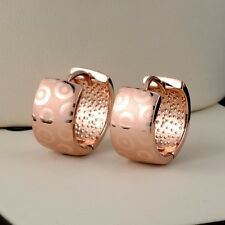 2016 New 18k Rose Gold Filled Womens Earrings GF 15MM Vogue Hoop Fashion Jewelry