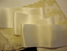 """4"""" WIDE SWISS DOUBLE FACE SATIN RIBBON-    IVORY"""