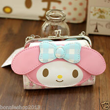 Christmas gift Hello kitty My Melody mini PU Purse Clutch  Wallet Coin Bag