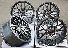 "19"" OEMS ES5 ROTI STYLE ALLOY WHEELS GUNMETAL CONCAVE STAGGERED 19"" ALLOYS"