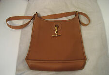 AUTHENTIC Hermes Brown Leather Vespa Shoulder/Cross Body Bag Great Condition!