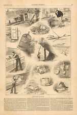 The Story Of A Cat, Humor, Nautical, Boat Cat, Vintage 1883 Antique Art Print