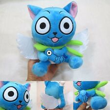 "Anime Fairy Tail Blue Happy Cat 18cm/7"" Cute Plush Toy Stuffed Doll"