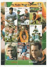 RUGBY WORLD CUP 1999 SPORTS NELSON MANDELA SOMALIA MNH STAMP SHEETLET