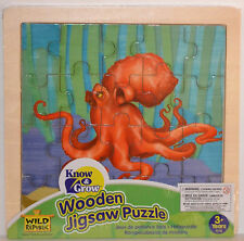 "20 pcs. Family Children WOODEN Jigsaw PUZZLE ""OCTOPUS"" Wild Republic NEW SEALED"