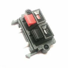 Black&Red 2-Pins 2 Positons Push Type Speaker Terminal Board Connector