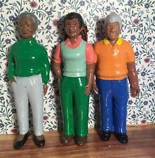 DOLLHOUSE  FAMILY AFRICAN AMERICAN DOLLS - 3 MEMBERS