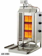 Axis AX-VB3 Commercial 3-Burner Gas Vertical Gyro & Shawarma Broiler BRAND NEW!
