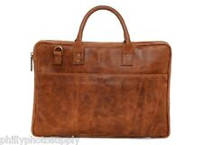 ONA Kingston Tan Leather Briefcase - Handcrafted Premium Bag -  NEW!!!