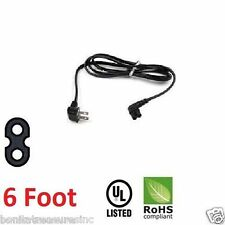 6 Foot TV Power Cord 2 Prong Right angled 90 degree for some Samsung Panasonic