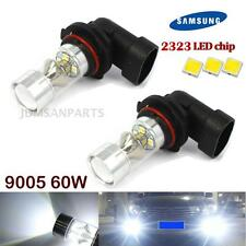 2X Super Bright 60W Cool White 9005 9045 Smsung LED For Daytime Running Light