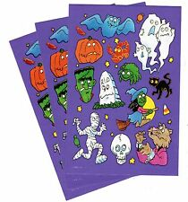 3 Sheets Halloween Stickers! Ghosts Black Cat Witch Jack o Lanterns Graveyard