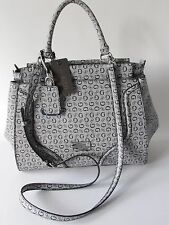 "GUESS  ""Jackets"" Black/Gray w/G Logo Shoulder bag Crossbody Satchel NEW"