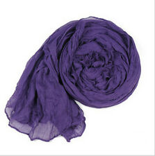 hot women's girls solid color cotton blend long scarf shawls 85x150cm C01