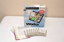"""Microsoft Works 3.5"""" Floppy Disks for Windows 95 Business Productivity Software"""