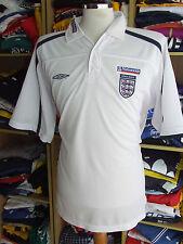 Polo Shirt England (XXL) Weiss White Jersey Umbro Maglia Camiseta Trikot