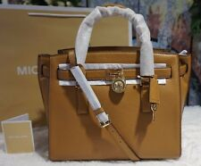 NWT Michael Kors HAMILTON TRAVELER LARGE Messenger Leather Tote Bag ACORN $398
